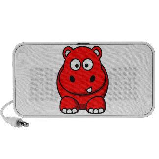 Auto-falante do hipopótamo do arco-íris caixinha de som portátil