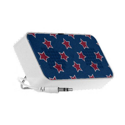 Auto-falante do Portable das estrelas dos EUA Caixinhas De Som Para Mp3