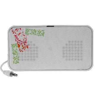 Auto-falante floral esverdeado e avermelhado bonit caixinha de som de viagem