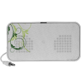 Auto-falante floral esverdeado e tan escuro caixinhas de som para iPhone
