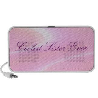 Auto-falante personalizados acenados rosa do Doodl Caixinha De Som Para Notebook