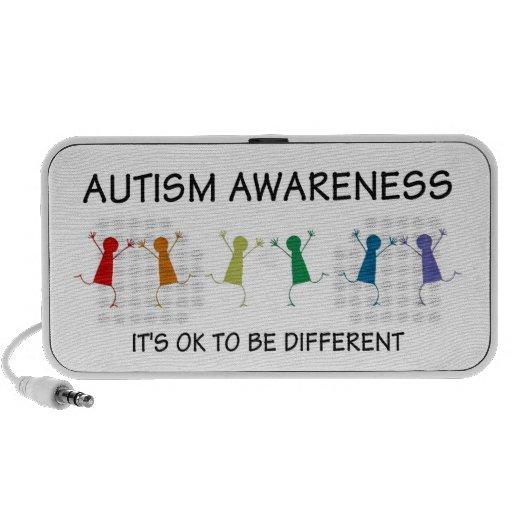 Auto-falante portátil diferente do autismo caixinhas de som