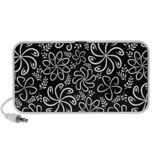 Auto-falante preto e branco bonitos do Doodle Caixinha De Som Para Laptop