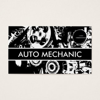 Auto mecânico cartão de visitas