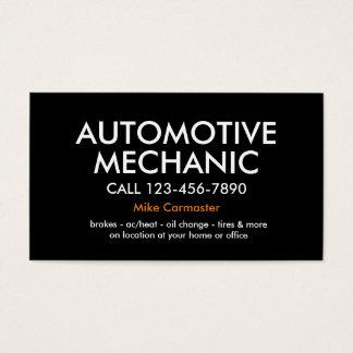 Auto mecânico corajoso simples cartão de visitas