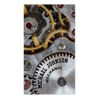 Auto mecânico de aço masculino original moderno do cartão de visita