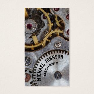 Auto mecânico de aço masculino original moderno do cartão de visitas