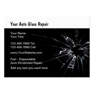 Auto reparo de vidro novo cartão de visita grande