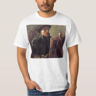 Auto-Retrato com o chapéu de feltro escuro por T-shirt