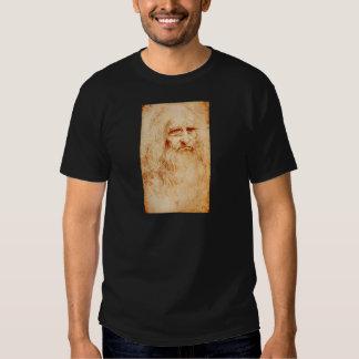 Auto-Retrato de Leonardo da Vinci cerca de Camiseta