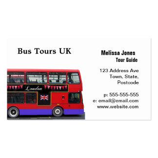Autocarro de dois andares vermelho do ônibus de cartão de visita