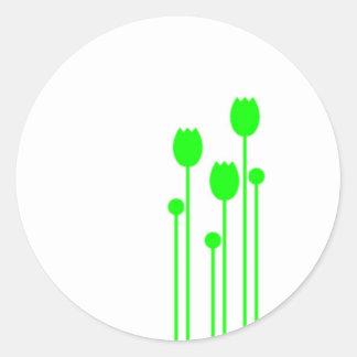 Autocolante bordador floral blume verde adesivo