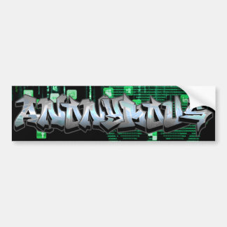 Autocolante no vidro traseiro anónimo dos grafites adesivo