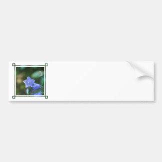 Autocolante no vidro traseiro azul da flor de balã adesivo