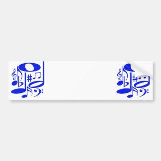 Autocolante no vidro traseiro azul musical adesivo para carro