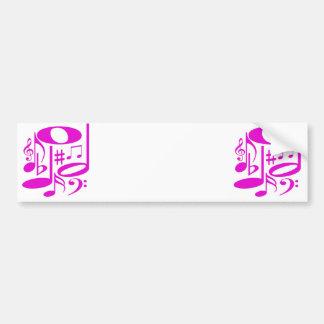 Autocolante no vidro traseiro cor-de-rosa musical adesivo para carro
