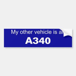 Autocolante no vidro traseiro da aviação adesivo para carro