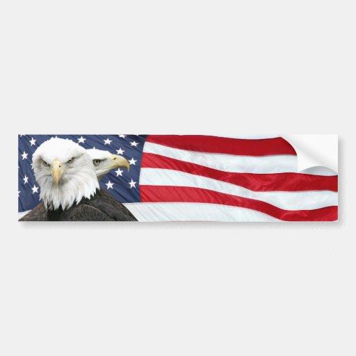 Autocolante no vidro traseiro da bandeira de Eagle Adesivos