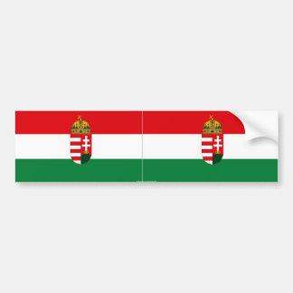 Autocolante no vidro traseiro da bandeira de Hungr Adesivo
