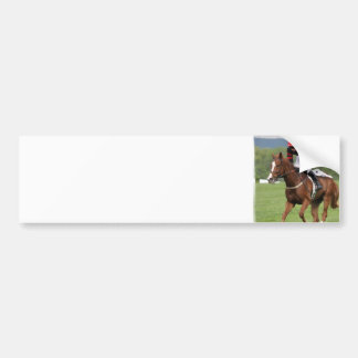 Autocolante no vidro traseiro da corrida de cavalo adesivo