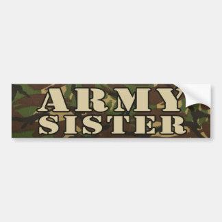 Autocolante no vidro traseiro da irmã do exército adesivo de para-choque