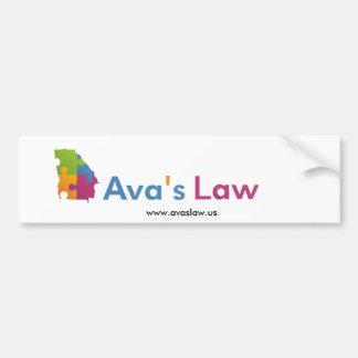 Autocolante no vidro traseiro da lei de Ava Adesivo De Para-choque