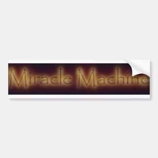 Autocolante no vidro traseiro da máquina do milagr adesivo