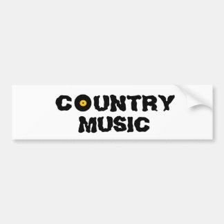 Autocolante no vidro traseiro da música country adesivo para carro
