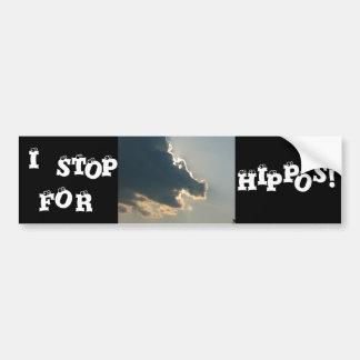 Autocolante no vidro traseiro da nuvem do hipopóta adesivo para carro