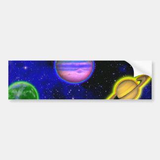 Autocolante no vidro traseiro da pintura do espaço adesivo