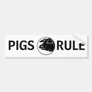 Autocolante no vidro traseiro da regra dos porcos adesivo