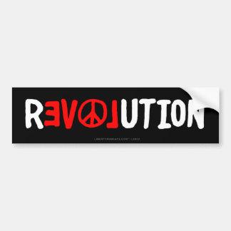 Autocolante no vidro traseiro da revolução do amor adesivo para carro
