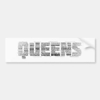 Autocolante no vidro traseiro da tipografia do Que Adesivo