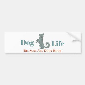 Autocolante no vidro traseiro da vida do cão adesivo para carro