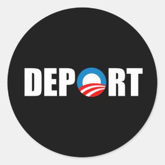 Autocolante no vidro traseiro de Anti-Obama - Adesivo Em Formato Redondo
