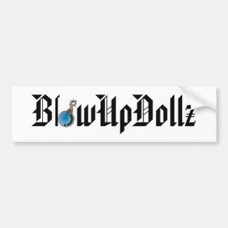 Autocolante no vidro traseiro de BlowUpDollz com b Adesivo Para Carro