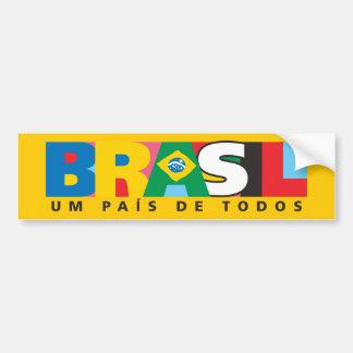 Autocolante no vidro traseiro de Brasil Um Pais de Adesivo Para Carro