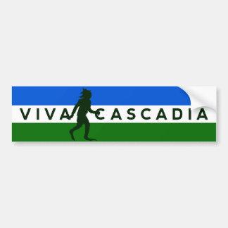 Autocolante no vidro traseiro de Cascadia Sasquatc Adesivos
