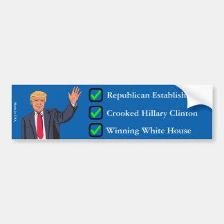 Autocolante no vidro traseiro de Donald Trump Adesivo Para Carro