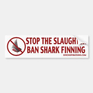 Autocolante no vidro traseiro de Finning do tubarã Adesivo