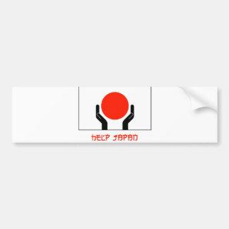 Autocolante no vidro traseiro de japão da ajuda adesivo para carro