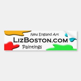 autocolante no vidro traseiro de LizBoston.com Adesivo