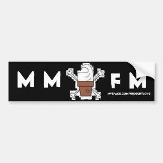 Autocolante no vidro traseiro de MMFM Adesivo