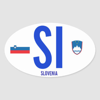 Autocolante no vidro traseiro de Slovenia* Adesivo Oval