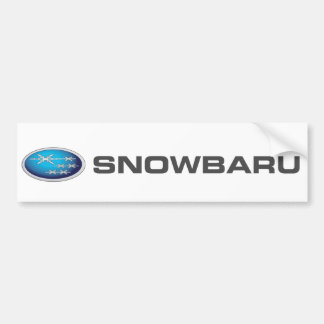 Autocolante no vidro traseiro de Snowbaru Adesivo Para Carro