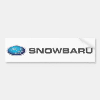 Autocolante no vidro traseiro de Snowbaru (inclina