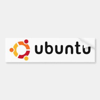 Autocolante no vidro traseiro de Ubuntu Adesivo Para Carro