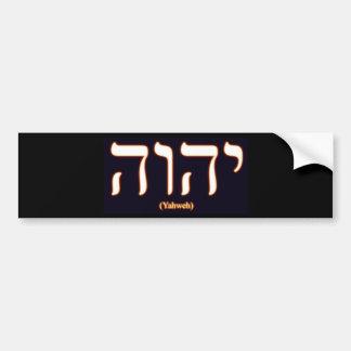 Autocolante no vidro traseiro de Yahweh escrito n Adesivos
