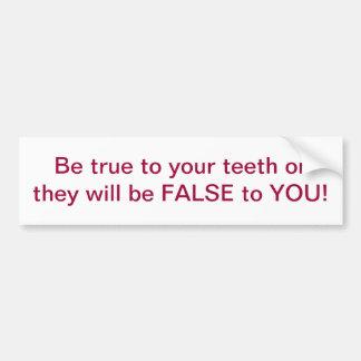 Autocolante no vidro traseiro dental do humor adesivo para carro
