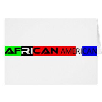 Autocolante no vidro traseiro do afro-americano cartão comemorativo